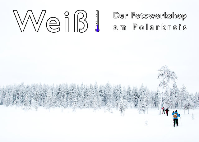 Flyer von Weiß! - Der Fotoworkshop am Polarkreis mit Link zur Infoseite